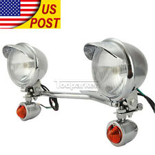 Passing Turn Signals Light Bar For Honda Shadow ACE 750 1100 VT1100C Chrome