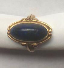 Antique Lapis Art Nouveau Ring