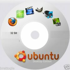 UBUNTU Linux - 32 Bit DVD Bootable OS Latest New Long Term Support