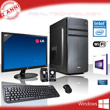 PC DESKTOP GAMING COMPLETO QUAD CORE WINDOWS 10/WIFI/HD 1TB/RAM 8GB/MONITOR 22""