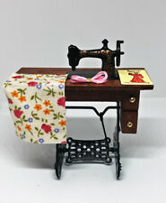 Dolls House Miniature 1:12th Scale Sewing Machine With Accessories