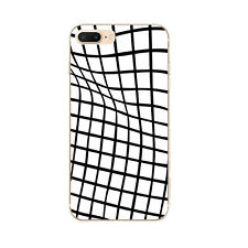 Cases For iPhone 5s 5 5C 6 6s 7 Plus Soft TPU Silicone Back Covers Plaid Line
