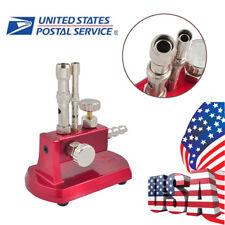 USA Gas Propane Light Bunsen Burner 2 Double Tube Rotatable Dental Lab Equipment