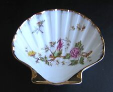 Limoges Orlibe Tea Plate -Seashell White Flowers Gold Leaf Gilt Porcelain France