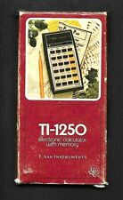 Vintage Texas Instruments Ti-1250 Electronic Calculator Red Led Display with Box