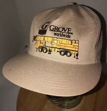 Vintage GROVE WORLDWIDE 80s USA K-Products Trucker Hat Cap Snapback Construction