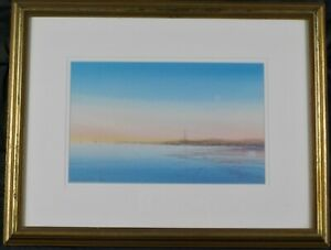Vinatage Original Watercolor Painting of Provincetown by Harvey John Dodd Listed