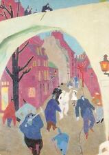 "vintage greeting artistcard Feininger , the green bright ""2886"""