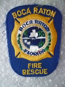 USA Patches- Florida, Boca Raton Fire Rescue Patches (New*)