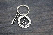 Gymnastics Coach Keychain-  Gymnastics Coach Gift- Gymnastics Jewelry