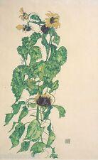 Egon Schiele - Sonnenblumen Canvas Print