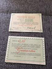 Rolex Garanzia Warranty Paper in Bianco Blank Guarantee & Chrono Vintage Anni 60