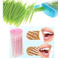 50x/Box Interdental Brush Dental Floss Teeth Oral Clean Double Head Toothpick A+