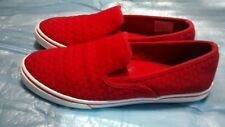 Lauren Ralph Lauren Janis Slip On Fashion Sneakers, Red, 7 US / 38 EU