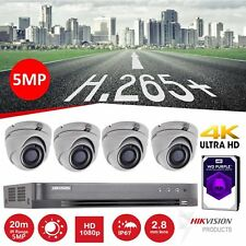 HIKVISION CCTV SYSTEM 5MP HD1080P 4K Night Vision Outdoor DVR Home Security Kit#