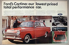 Ford Cortina Large Centerfold PRINT AD - 1966