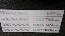 JDM 8pc Sticker Decals 17-19 inch Rims Wheels TE37 TTA Time Attack ~Gray