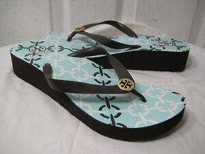 Tory Burch  PVC Sandals Wedge Platform Flip Flops Shoes Women's Size 9.5