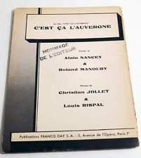 Partition sheet music JOLLET / LOUIS RISPAL: C'est ça l'Auvergne *60's Accordéon