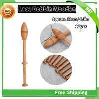 Wood Knitting Needle Lace Bobbin Wooden Tool for DIY Scarf Sweater 12Pcs/Set