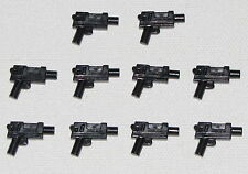 Lego 10 New Black Minifig Weapon Guns Pistols Automatic Indiana Jones Star Wars