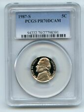 1987 S 5C Jefferson Nickel Proof PCGS PR70DCAM