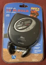 2004 Audiovox DM9913-45 Skip Digital FM Portable CD Player w/Headphones!