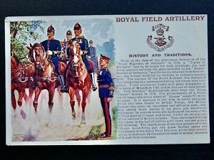 History & Tradition THE ROYAL FIELD ARTILLERY Postcard by Gale & Polden No.106