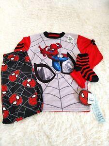 NWT Boys Marvel Spiderman 3 Piece Pjs Size Large 10-12