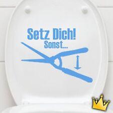 Badezimmer Wandtattoo - Setz dich - im sitzen pinkel