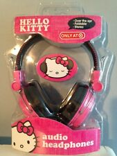 HELLO KITTY FOLDABLE OVER EAR AUDIO HEADPHONES DJ IPOD IPHONE PINK SANRIO KT2091