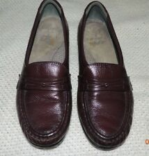SAS WOMEN'S TRIPAD COMFORT BURGUNDY LEATHER LOAFERS SIZE 7 N EXCELLENT COND!