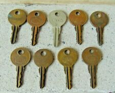 Lot Of 9 Original Seeburg Jukebox Keys Numbers Listed Below.