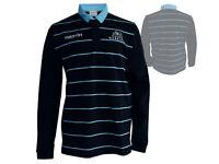 Macron Glasgow Warriors Replica Cotton Shirt Rugby Polo Jersey schwarz Gr.XL 3XL