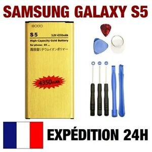 Battery Gold High Capacity +Kit Tools 8 Pcs for Samsung Galaxy S5 i9600