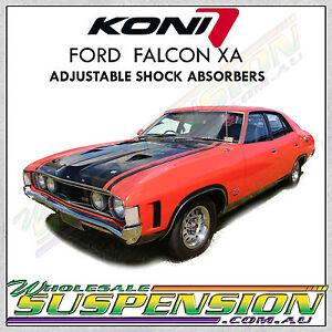 KONI FORD FALCON XA 1972 to 1973 inc GT, GTHO Adjustable Shock Absorbers
