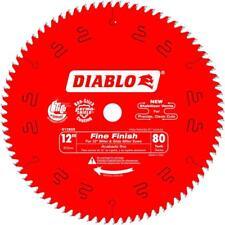 Freud D1280X Diablo 12-Inch 80 Tooth ATB Crosscutting Saw Blade w/ 1-Inch Arbor