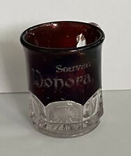 Glass Cup Souvenir Donora PA Pennsylvania Eapg Pattern
