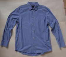 Michael Kors LS Casual Shirt Size Large Blue Mini Gingham Checks Tailored Fit