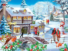 The House Of Puzzles - 500 PIECE JIGSAW PUZZLE - Winter Walk Unusual Pieces