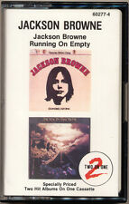 JACKSON BROWNE 2 LP Self Titled  Running On Empty  COMPACT CASSETTE