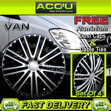 "Mercedes Benz Sprinter Van 16"" Black Silver 9 Spoke Wheel Trims Hub Cap Covers+F"