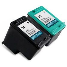 2 PK HP 74 75 Ink Cartridge OfficeJet J5783 J5785 J5788 J5790 J6405 J6410 J
