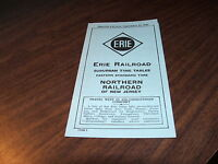 SEPTEMBER 1946 ERIE RAILROAD FORM 9 NORTHERN RAILROAD OF NEW JERSEY