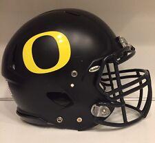 2011 OREGON DUCKS Riddell Speed Matte Black Football Game Helmet w/COA