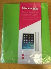 Snugg iPad Air 2 Green PU leather Executive Card Slot Case