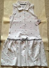 NWT NAUTICA GIRLS WHITE COTTON DRESS SIZE 10 $36.50