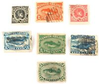 .1868 - 1897 NEWFOUNDLAND NICE LOT STAMPS.