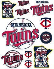 Minnesota Twins Scrapbooking Craft Sticker Sheet Set #1