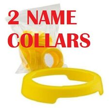 2 PACK GATORADE 32oz WATER BOTTLE STANDARD NECKER IDENTIFIER NAME COLLAR YELLOW